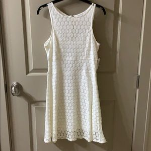 White crochet dress NWT